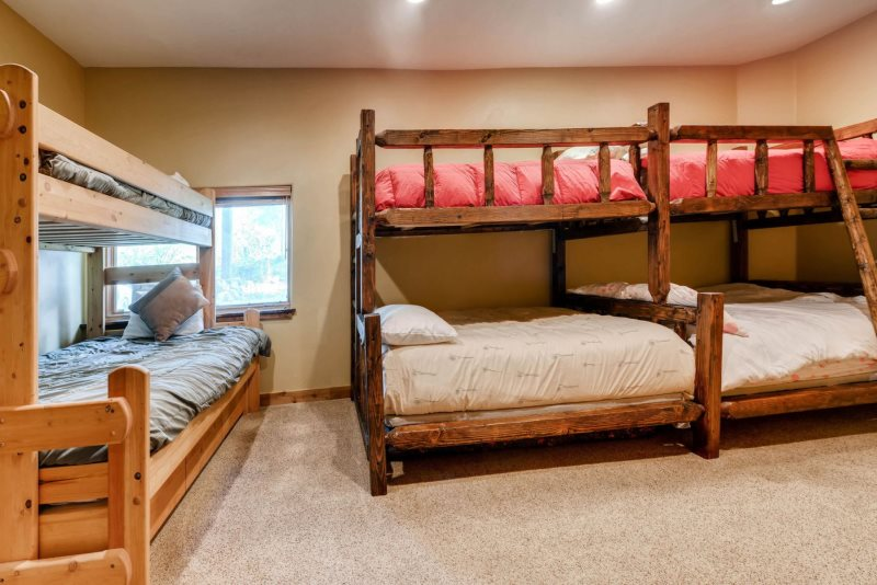Master Bedroom Upstairs Kids Downstairs the bells home   vacation home   frisco, colorado