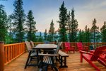 Back Deck with Plenty of Seating and Spectacular Mountain and Ski Area Views