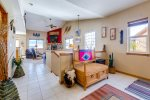 Front foyer and staircase down to sleeping quarters and bathrooms