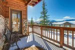 Shared deck for master and second bedrooms with views of Tenmile Range and Buffalo Mountain