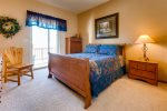 Second bedroom has a queen bed and large closet