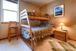 Bunk room with captain bunk - twin on top, full on bottom