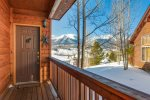 Front entrance with views of Buffalo Mountain