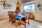 Dining table that goes out to private balcony