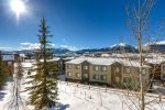 Private balcony off the main level with grill and extraordinary views of Buffalo Mountain, the Tenmile Range and Lake Dillon