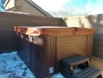 The private hot tub has just been installed December 2018
