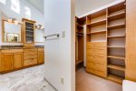 The closet in the master ensuite has plenty of storage