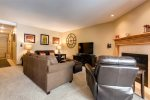 Open floorplan with breakfast bar seating for 4
