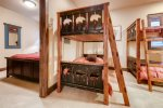 Den bunk room with 2 twin bunk beds