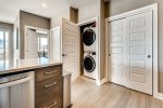 Private washer and dryer and coat closet