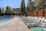 Plenty of seating around the pool for a nice relaxing sit.