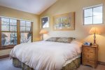 Second floor master bedroom with king and electric heated mattress topper
