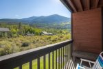 Gorgeous views of the Tenmile Range from the private balcony