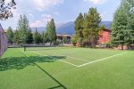 Tennis court on site.