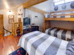 Loft with bunk bed and twin bed, sleeps 3
