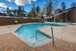 Large outdoor heated pool open year round. An indoor hot tub is also available. The club is located 25 yards from the condo.