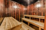 Sauna in clubhouse.