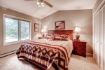 Level 2 Master bedroom with king bed