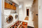 Level 3 Full size washer and dryer located in the closet off the hall