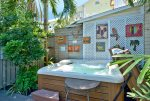 Private 6 person Hot Springs spa on rear deck