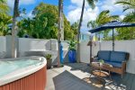 Your own very private courtyard with a 2 person Solana spa with back, leg and foot jets