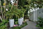 Tropical gardens/orchids and fountains to delight the senses