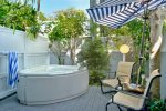 Your private 2 person Solana spa with outdoor seating