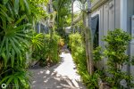 Walk down the lushly landscaped path