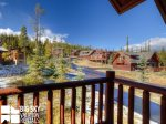 Big Sky Resort, Powder Ridge Rosebud 24, Bedroom 2 Deck View, 1