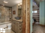 Big Sky Rentals By Owner, Powder Ridge Manitou 19, Guest Bathroom, 2