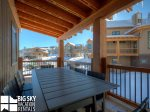 Big Sky Resort MT, Homestead Chalet 10 Claim Jumper, Deck, 2
