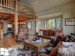 Moonlight Basin Luxury Rental, Mountain Home 4, Living, 3