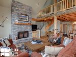 Moonlight Basin Luxury Rental, Mountain Home 4, Living, 4