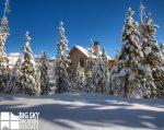 Big Sky Resort, Homestead Chalet 6, Winter Exterior