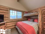 Big Sky Resort, Cowboy Heaven Cabin 7 Cowboy, Bedroom 2, 1