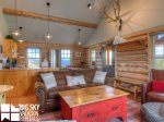 Big Sky Resort, Cowboy Heaven Cabin 7 Cowboy, Living, 3