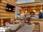 Lodging Big Sky Montana, White Otter Cabin, Dining, 4