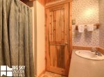Lodging Big Sky Montana, White Otter Cabin, Guest Bathroom, 1