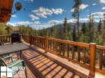 Lodging Big Sky Montana, White Otter Cabin, Deck, 2