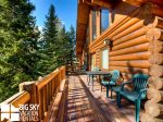 Lodging Big Sky Montana, White Otter Cabin, Deck, 3