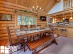 Lodging Big Sky Montana, White Otter Cabin, Dining, 1