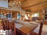 Lodging Big Sky Montana, White Otter Cabin, Dining, 2