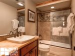 Lodging in Big Sky MT, Powder Ridge Oglala 10, Guest Bathroom, 1