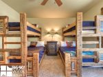 Lodging in Big Sky MT, Powder Ridge Oglala 10, Bedroom 3, 2