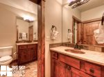 Lodging in Big Sky MT, Powder Ridge Oglala 10, Downstairs Bathroom, 1