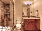 Lodging in Big Sky MT, Powder Ridge Oglala 10, Downstairs Bathroom, 2