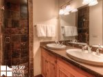 Big Sky Montana Condo Rental, Black Eagle Lodge 16, Master Bath