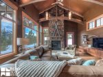 Big Sky MT Lodging, Swift Bear Chalet, Living, 1