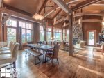Big Sky MT Lodging, Swift Bear Chalet, Dining, 1