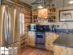 Big Sky Cowboy Heaven Cabin 11 Derringer, Kitchen, 3